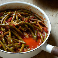 Food & Wine: Braised Green Beans with Tomatoes and Garlic
