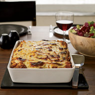 Food & Wine: Lasagna-Style Baked Pennette with Meat Sauce
