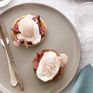 Food & Wine: Steak and Eggs Benedict with Red Wine Hollandaise