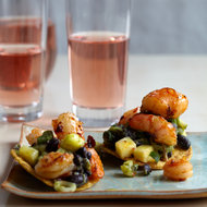 Food & Wine: Tequila-Flamed Shrimp Tostadas