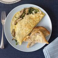 Food & Wine: Wild Mushroom and Goat Cheese Omelets