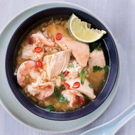 Food & Wine: Cambodian Chicken-and-Rice Soup with Shrimp