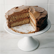 Food & Wine: Cinnamon Cake with Chile-Chocolate Buttercream