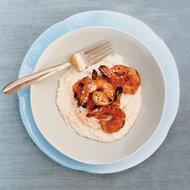 Food & Wine: Barbecued Shrimp with Cheese Grits