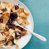 Food & Wine: Pappardelle with Porcini and Pistachios
