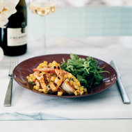 Food & Wine: Grilled Shrimp with Mangoes and Chile