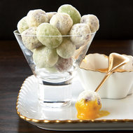 Food & Wine: White Chocolate-Coated Grapes with Orange Curd
