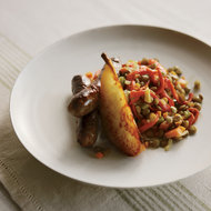 Food & Wine: Lamb Sausage with Lentils and Sautéed Pears