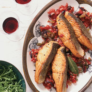 Food & Wine: Salmon in Tomato-Olive Sauce