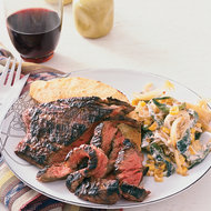 Food & Wine: Skirt Steak with Creamed Corn and Poblanos