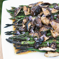 Food & Wine: Asparagus and Grilled Shiitake with Soy Vinaigrette