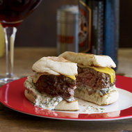 Food & Wine: Beef-and-Lamb Burgers with Cheddar and Caper Remoulade
