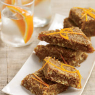 Food & Wine: Orange-Cardamom Date Bars with a Nutty Crust