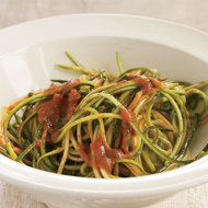 Food & Wine: Zucchini Ribbons with Raw Tomato Marinara