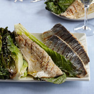 Food & Wine: Grilled Trout with Grilled Romaine Salad