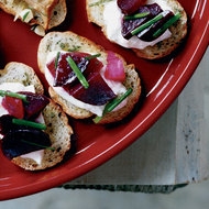 Food & Wine: Beet-and-Burrata Crostini