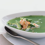 Food & Wine: Chilled Cucumber Soup with Salt-Roasted Shrimp