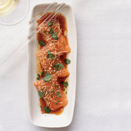 Food & Wine: Salmon Sashimi with Ginger and Hot Sesame Oil