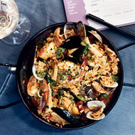 Food & Wine: Seafood-and-Chicken Paella with Chorizo