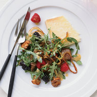 Food & Wine: Warm Chanterelle-and-Berry Salad with Cheddar