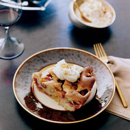 Food & Wine: Plum Cake with Hazelnut Brittle and Honey Mascarpone