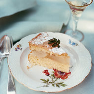 Food & Wine: Almond Cake with Pears and Crème Anglaise