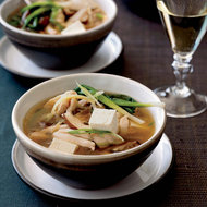 Food & Wine: Chicken Hot Pot with Mushrooms and Tofu