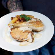 Food & Wine: Chicken with White Wine and Crème Fraîche