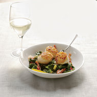 Food & Wine: Seared Scallops with Bacon-Braised Chard