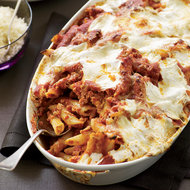 Food & Wine: Baked Penne with Sausage and Creamy Ricotta