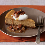 Food & Wine: Pumpkin Cheesecake with Pecan Praline Topping