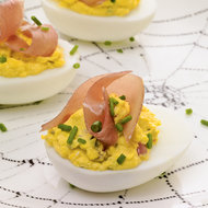 Food & Wine: Deviled Eggs With Country Ham