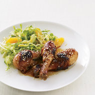 Food & Wine: Honey-Soy Sauce Chicken with Mâche-and-Citrus Salad