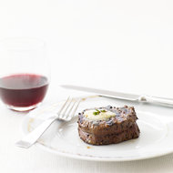 Food & Wine: Peppered Beef Tenderloin with Roasted Garlic-Herb Butter