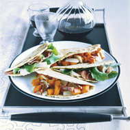 Food & Wine: Prosciutto-Cheese Piadina and Butternut Squash-Pecorino Piadina