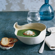 Food & Wine: Spinach Soup with Horseradish Granité
