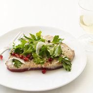 Food & Wine: Tuna Scallopine with Parsley and Pomegranate Seeds