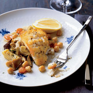 Food & Wine: Cod with Artichokes and Chickpeas