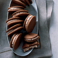 Food & Wine: Milk-Chocolate Cookies with Malted Cream