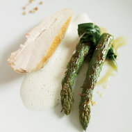 Food & Wine: Pan-Seared Chicken Breasts with Barley Foam