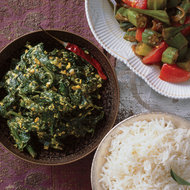 Food & Wine: Spinach Simmered in Yogurt