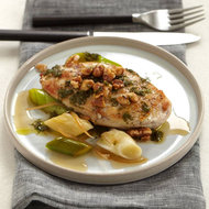 Food & Wine: Chicken Breasts with Walnuts, Leeks and Candied Lemon