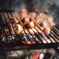 Food & Wine: Grilled Dandelion Salad with Pancetta-Wrapped Figs