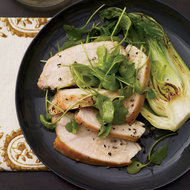 Food & Wine: Mustard-Glazed Chicken with Arugula and Bok Choy