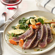 Food & Wine: Seared Tuna with Spinach and Root Vegetables