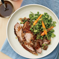 Food & Wine: Garlic-Rubbed Pork Shoulder with Spring Vegetables