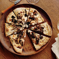 Food & Wine: Mushroom-and-Goat Cheese Béchamel Pizzas