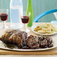 Food & Wine: Syrah-Braised Lamb with Olives, Cherries and Endives
