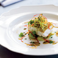 Food & Wine: Grouper with Cucumber Salad and Soy-Mustard Dressing