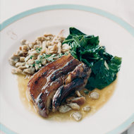 Food & Wine: Pork Belly with Buckwheat Spaetzle and Collards